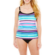 St. John's Bay® Camikini Swim Top or High-Waist Bottoms - Plus