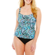 St. John's Bay® Tankini Swim Top or High-Waist Bottoms - Plus