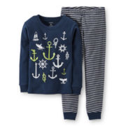 Carter's® 2-pc. Glow-in-the-Dark Pajama Set - Boys 6m-24m