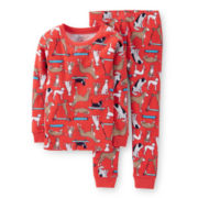 Carter's® 2-pc. Long-Sleeve Dog-Print Pajama Set - Boys 6-24m