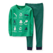 Carter's® 2-pc. Long-Sleeve Glow-in-the-Dark Pajama Set - Boys 6-24m
