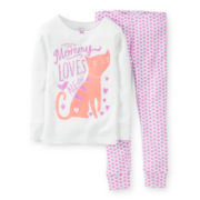 Carter's® 2-pc. Long-Sleeve Cat Pajama Set - Girls 6-24m