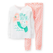 Carter's® 2-pc. Long-Sleeve Mermaid Pajama Set - Girls 6-24m