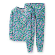 Carter's® 2-pc. Long-Sleeve Floral-Print Pajama Set – Girls 6-24m