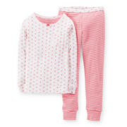 Carter's® 2-pc. Long-Sleeve Striped Pajama Set - Girls 6-24m