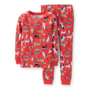 Carter's® 2-pc. Long-Sleeve Dog-Print Pajama Set – Boys 2t-5t