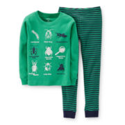 Carter's® 2-pc. Long-Sleeve Glow-in-the-Dark Pajama Set – Boys 2t-5t