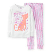 Carter's® 2-pc. Long-Sleeve Cat Pajama Set - Girls 2t-5t