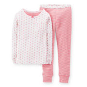 Carter's® 2-pc. Long-Sleeve Striped Pajama Set - Girls 2t-5t