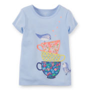 Carter's® Short-Sleeve Teacups Tee - Girls 6-24m