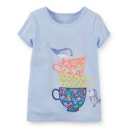 Carter's® Short-Sleeve Teacups Tee – Girls 6-24m