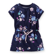 Carter's® Short-Sleeve Floral-Print Tunic – Girls 4-6x