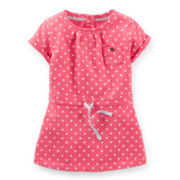Carter's® Short-Sleeve Polka Dot Tunic - Girls 4-6x