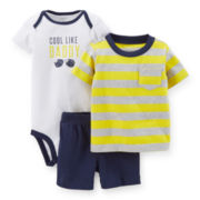 Carter's® Tee, Bodysuit and Shorts Set - Boys newborn-24m
