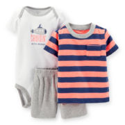 Carter's® Tee, Bodysuit and Shorts Set – Boys newborn-24m
