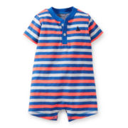 Carter's® Short-Sleeve Striped Romper – Boys newborn-24m