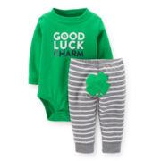 Carter's® St. Patrick's  Day Bodysuit and Pants Set – Boys newborn-24m