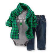 Carter's® St. Patrick's Day 3-pc. Set – Boys newborn-24m
