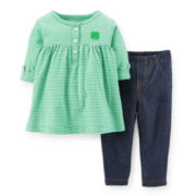 Carter's® St. Patrick's Day Tunic and Jeggings Set – Girls newborn-24m