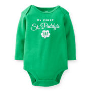Carter's® Long-Sleeve First St. Patrick's Day Bodysuit – newborn-24m