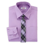 IZOD® Dress Shirt and Tie Set – Boys 8-20