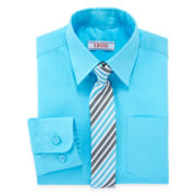IZOD® Dress Shirt and Tie Set – Boys 4-7