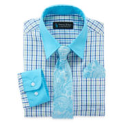 Steve Harvey® Dress Shirt, Tie and Handkerchief Set – Boys 8-20