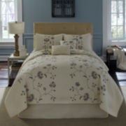 Flowering Vine Embroidered Quilt & Accessories