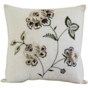 Flowering Vine Square Decorative Pillow