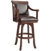 Carson Bonded Leather Swivel Barstool