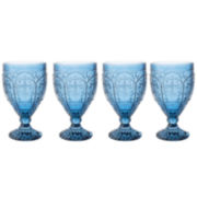 Fitz and Floyd® Trestle Vintage Style Set of 4 Stemmed Glasses