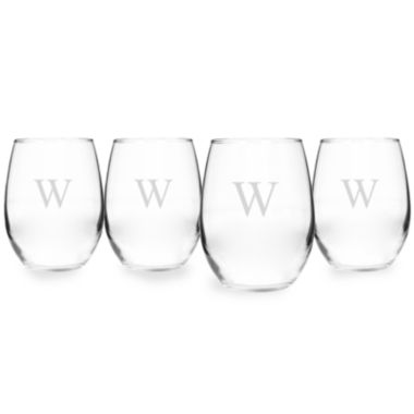 jcpenney.com | Cathy's Concepts Personalized Set of 4 Stemless Wine Glasses