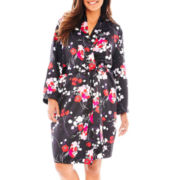 Ambrielle® Satin Robe - Plus