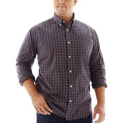 The Foundry Supply Co.™ Easy-Care Plaid Poplin Shirt–Big & Tall