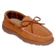 Clarks® Parker Mens Suede Moccasin Slippers