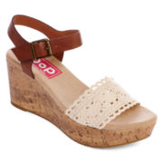 Pop Olivia Crochet Wedge Sandals