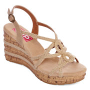 Pop Halo Wedge Sandals