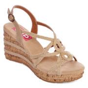 Pop Halo Wedge Sandals