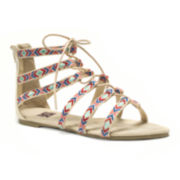 Muk Luks® Jessica Embroidered Lace-Up Sandals