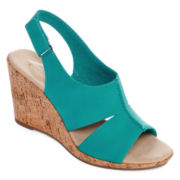 St. John's Bay® Quent Wedge Sandals