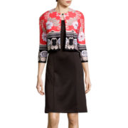 Danny & Nicole® Floral Jacket  Dress