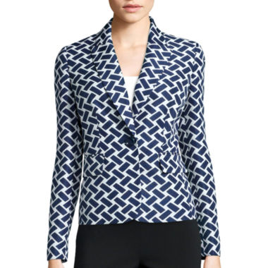 jcpenney.com | Black Label by Evan-Picone Long-Sleeve Jacquard Jacket