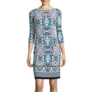 Liz Claiborne® 3/4-Sleeve Sheath Dress