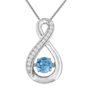 jcpenney.com | Love In Motion™ Genuine Blue Topaz and Lab-Created White Sapphire Pendant Necklace