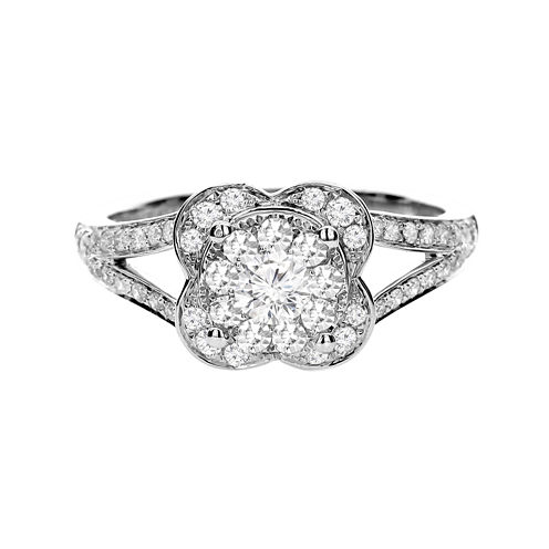Brilliant Dream™ 5/8 CT. T.W. Diamond 14K White Gold Bridal Ring