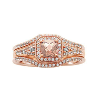 jcpenney.com | 1 1/4 CT. T.W. Diamond and Genuine Pink Morganite 10K Rose Gold Ring