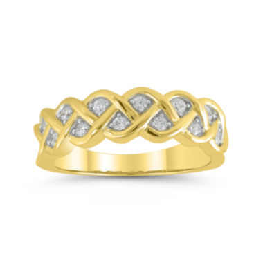 jcpenney.com | 1/4 CT. T.W. Diamond 10K Yellow Gold Pavé Ring