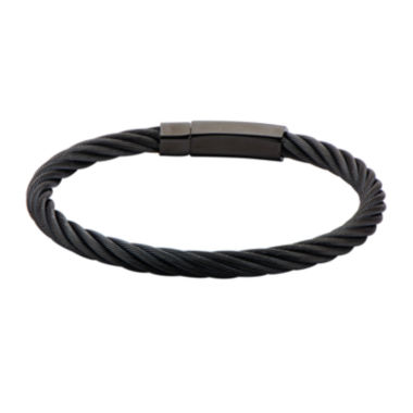 jcpenney.com | Mens Black Matte Stainless Steel Cable Bracelet
