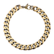 Mens Gold-Tone Stainless Steel Bracelet