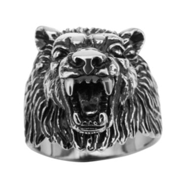 jcpenney.com | Mens Stainless Steel Wolf Ring